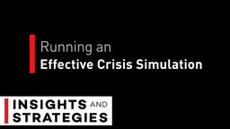 Running an Effective Crisis Simulation